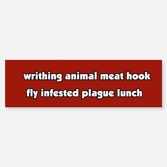 Animal Cruelty Vegetarian Bumper Car Car Sticker
