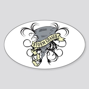 Storm Chasers Banner Oval Sticker