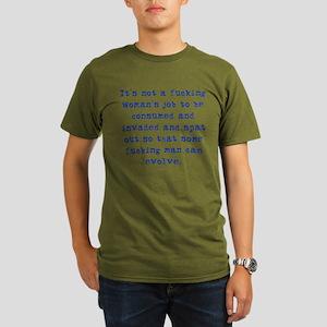 A Woman's Job Organic Men's T-Shirt (dark)