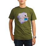 Rainbow Archer Organic Men's T-Shirt (dark)