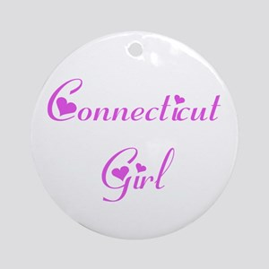 Connecticut Girl Ornament (Round)