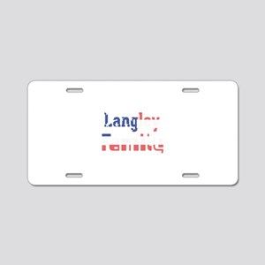 Langley Family Aluminum License Plate