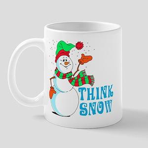 Festive Cartoon Snowman Mug