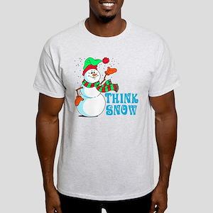 Festive Cartoon Snowman Light T-Shirt