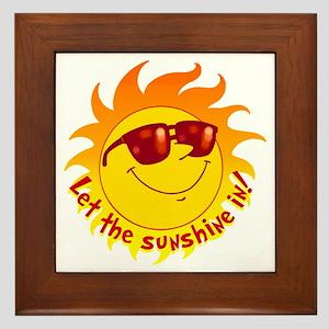 Let the Sunshine In Framed Tile