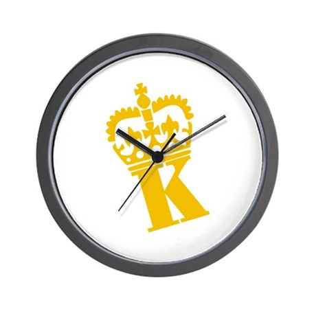 K - character - name Wall Clock