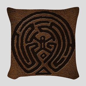 Westworld Maze Symbol Woven Throw Pillow