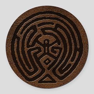 Westworld Maze Symbol Round Car Magnet