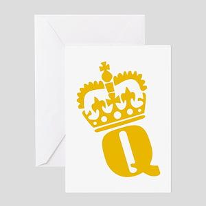 Q - character - name Greeting Card