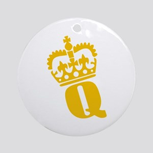 Q - character - name Ornament (Round)