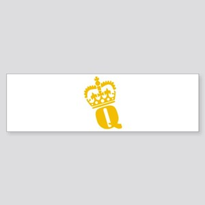 Q - character - name Bumper Sticker