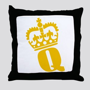 Q - character - name Throw Pillow