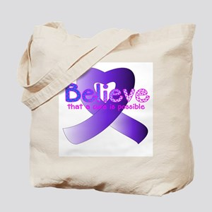 Believe, General Cancer Tote Bag