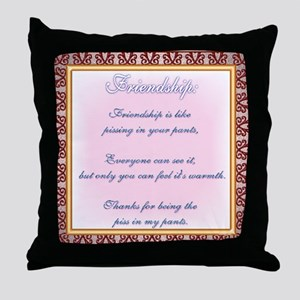 True Friendship Throw Pillow
