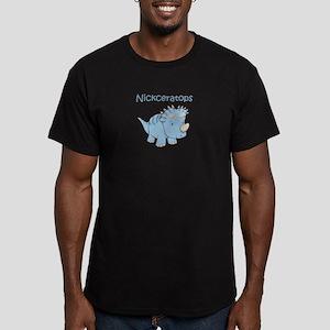 Nickceratops Men's Fitted T-Shirt (dark)