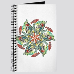 green and red fish snowflake Journal