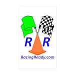 Racing Ready Rectangle Sticker 50 pk)