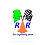 Racing Ready Rectangle Sticker 10 pk)