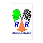 Racing Ready Rectangle Sticker