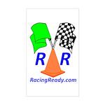 Racing Ready Rectangle Sticker