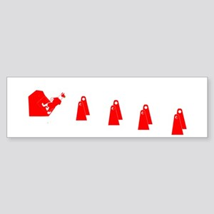 Red and White Flyball BC Bumper Sticker