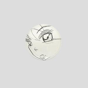 anime girl Mini Button