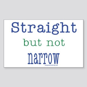 Straight but Not Narrow Rectangle Sticker