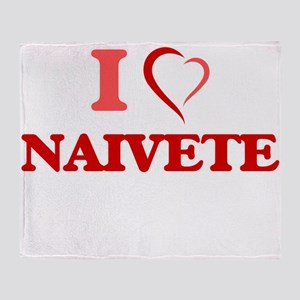 I Love Naivete Throw Blanket