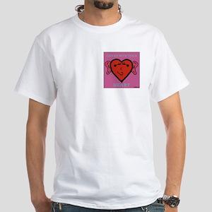 EarHeart White T-Shirt