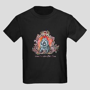 Bouvier Portrait Kids Dark T-Shirt