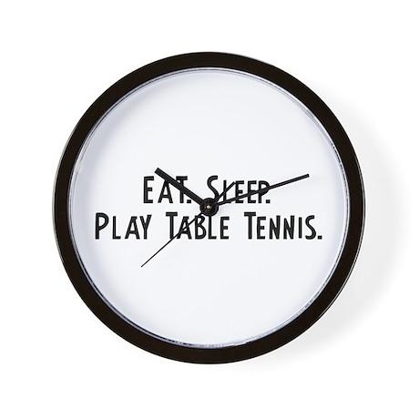 Eat, Sleep, Play Table Tennis Wall Clock