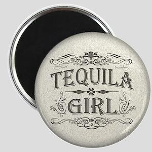 Vintage Tequila Girl Magnet
