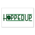 Hopped Up for Beer Rectangle Sticker 50 pk)