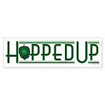 Hopped Up for Beer Bumper Sticker (10 pk)