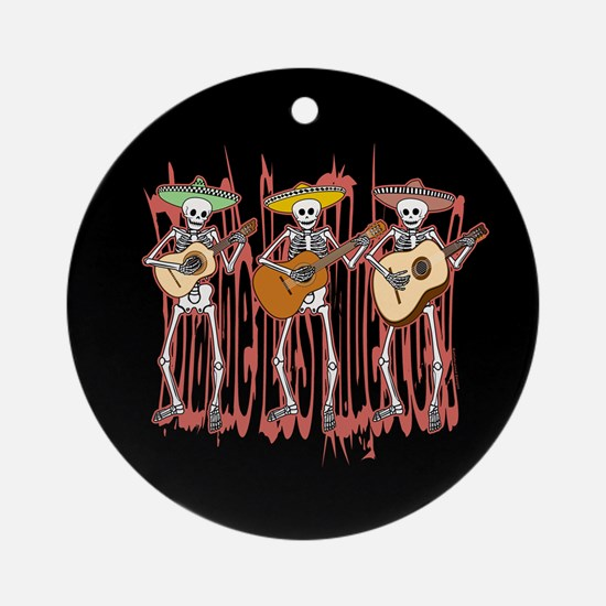 Mariachi Skeleton Trio Ornament (Round)