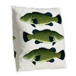 Murray Cod Burlap Throw Pillow