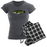 Murray Cod Women's Charcoal Pajamas