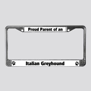 Italian Greyhound  License Plate Frame