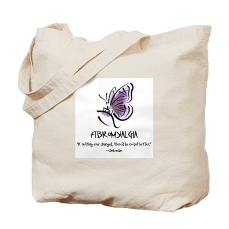 Tote Bag w/Fibro Butterfly and Info.