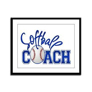 Softball Coach Framed Panel Print