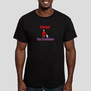 Firefighter Parker Men's Fitted T-Shirt (dark)