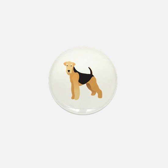Unique Airedale terrier Mini Button