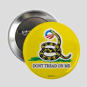 """Gadsden Strikes Obama Logo 2.25"""" Button (10 pack)"""