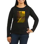 Women's Long Sleeve Dark T-Shirt FEATHERS
