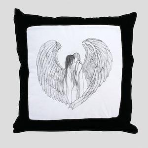 AngelHeart Throw Pillow