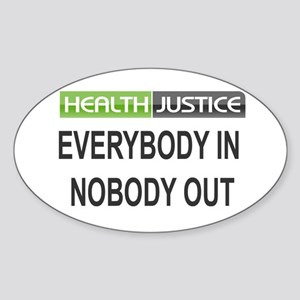 Health Justice Oval Sticker