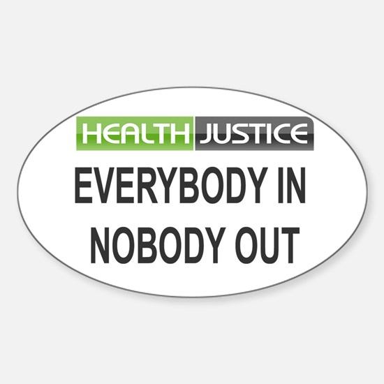Health Justice Oval Decal