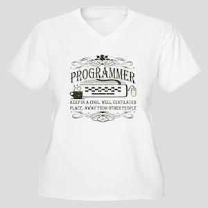 Vintage Programmer Women's Plus Size V-Neck T-Shir