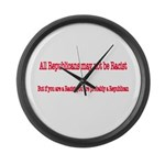 Republican Racist Large Wall Clock