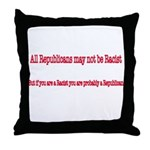 Republican Racist Throw Pillow